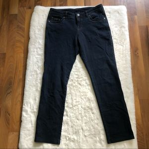 Kuhl women dark wash straight leg jeans size 12